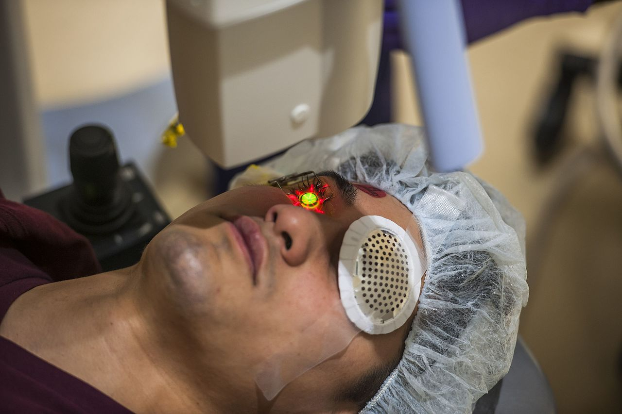 Corneal Collagen Crosslinking for Keratoconus (Photo: Reese Brown/DoD)
