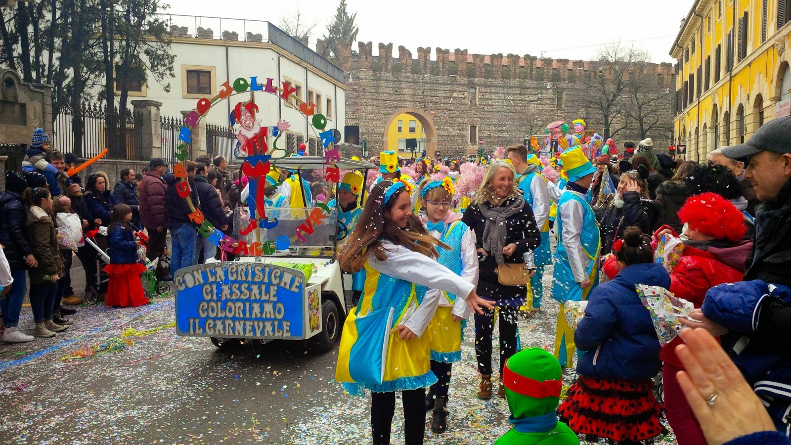 The parade for Verona Carnival