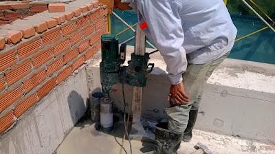 Khoan cắt bê tông tại phường Linh Trung