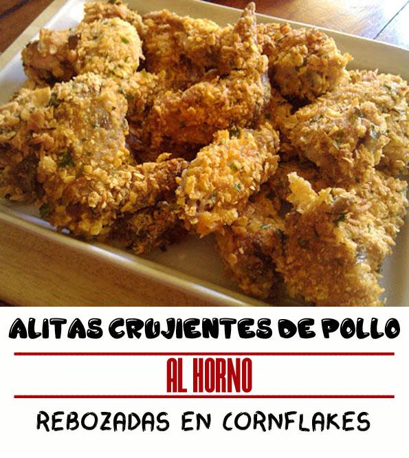 La Cocinera novata_CRUJIENTES ALITAS DE POLLO AL HORNO REBOZADAS EN CORNFLAKES RECETA AVES SIN GLUTEN CELIACO CELIAQUIA parmesano copos de maiz cereales