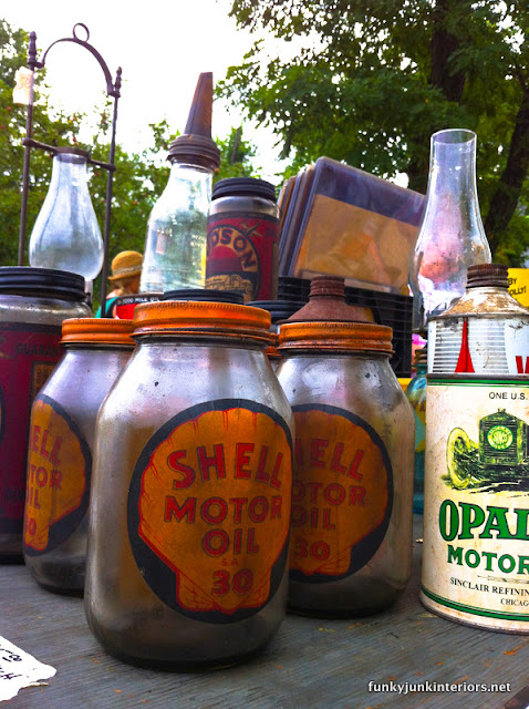 shell motor oil vintage jars
