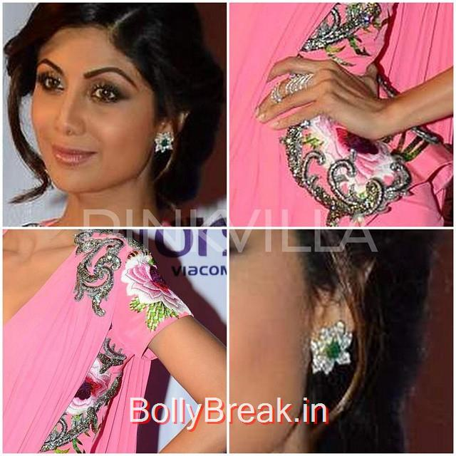shilpa shetty , monisha jai sing , anmol , jewellery , hair , makeup , diamond , emerald , 