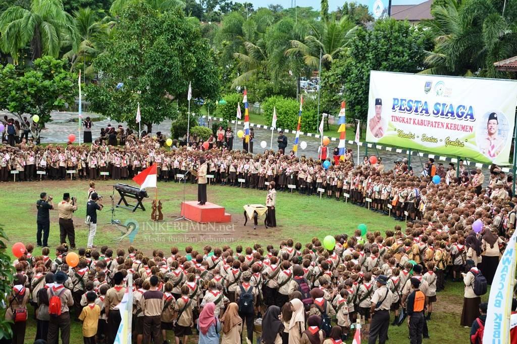 980 Pramuka Bersaing Wakili Kebumen di Pesta Siaga Korwil Kedu
