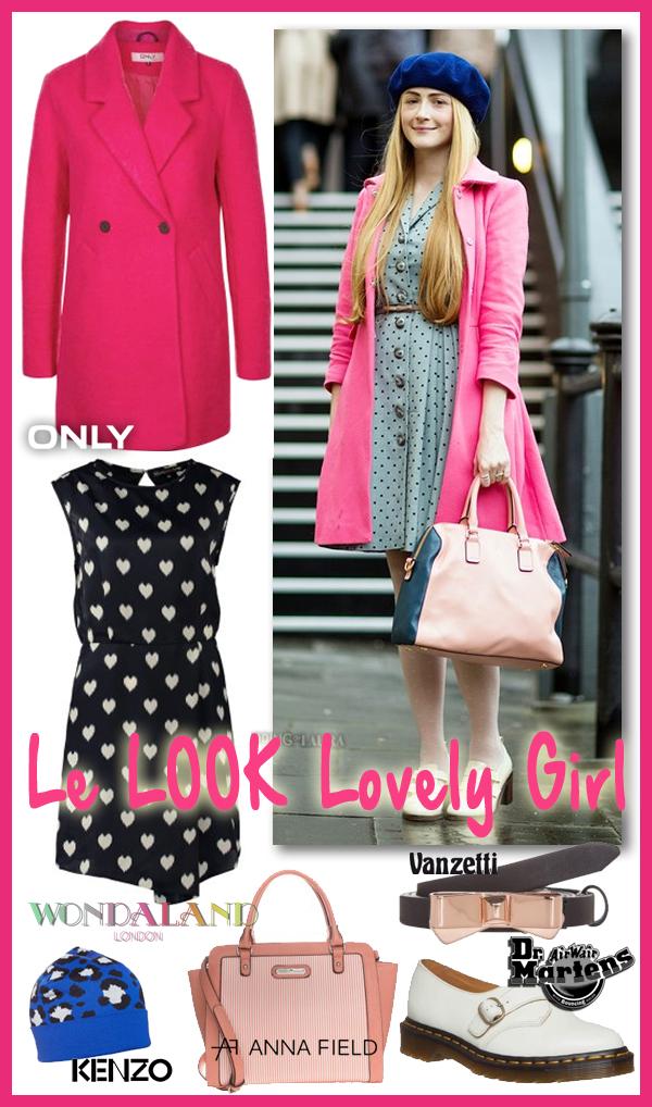 Look lovely girl en manteau rose
