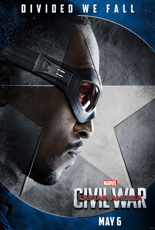 Anthony Mackie Captain America Civil War poster