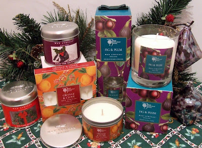 Fruit-scented candle selection from Wax Lyrical
