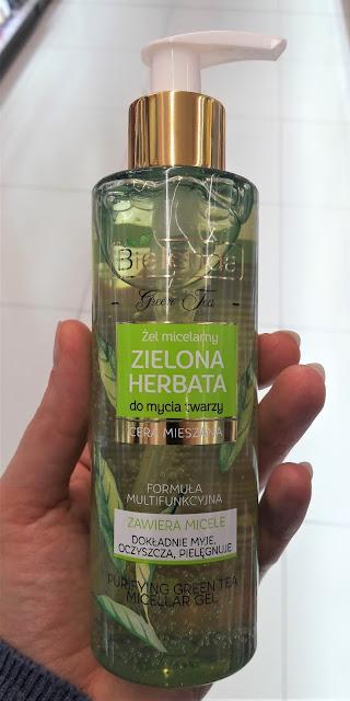 Bielenda żel micelarny do mycia twarzy zielona herbata