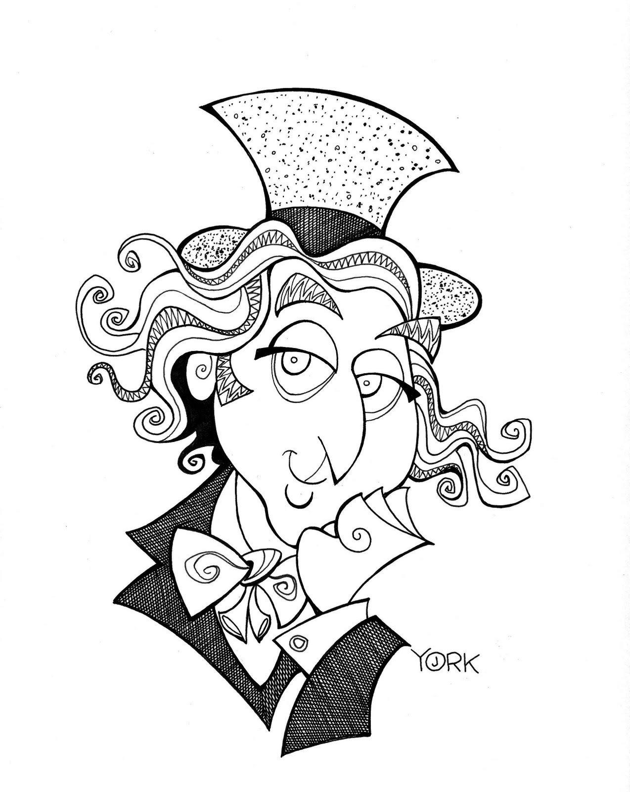 printable coloring pages willy wonka - photo#23