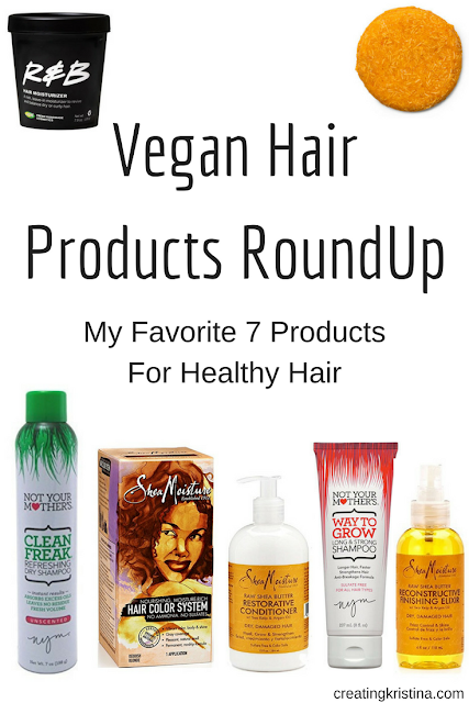 Vegan Hair Products RoundUp - My 7 Favorite Products For Health Hair