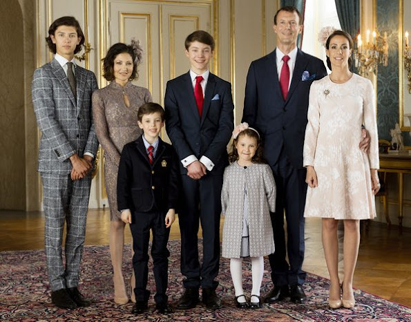 Princess Marie wore HUISHAN ZHANG Kiera Cotton Blend Floral Lace Dress, Princess Mary wore Ole Yde Dress