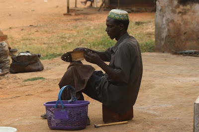 Shoemaker on the streets-Nigeria