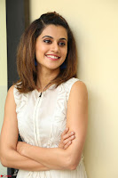 Taapsee Pannu in cream Sleeveless Kurti and Leggings at interview about Anando hma ~  Exclusive Celebrities Galleries 028.JPG