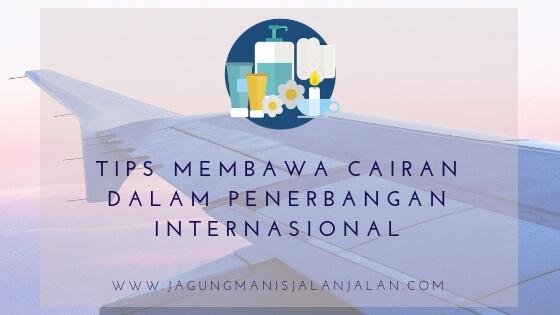 Tips Membawa Cairan dalam Penerbangan Internasional