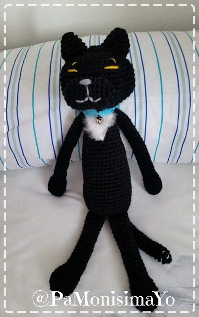 amineko amigurumi gato negro @pamonisimayo