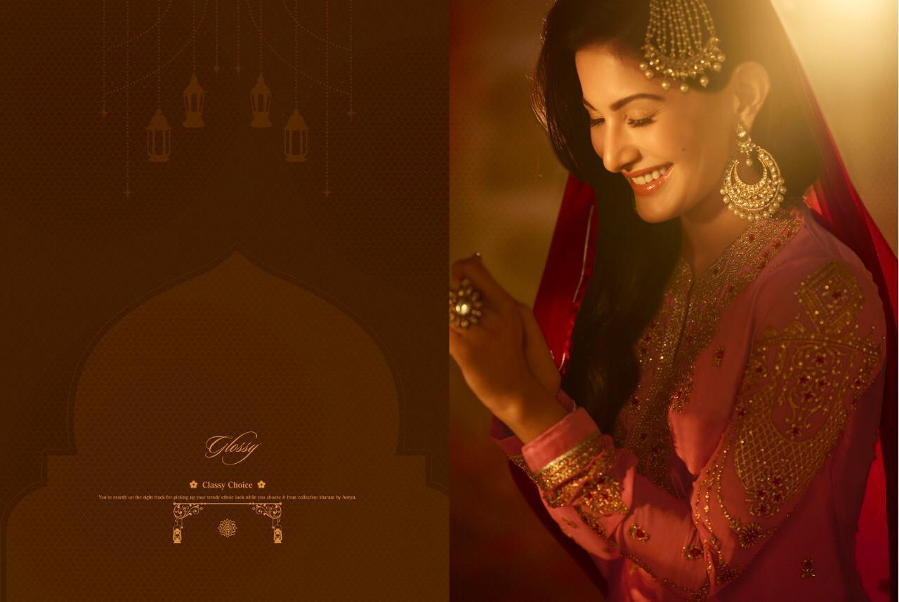 9fd7d27587 Glossy Simar Amyra Sharara hit list pakistani Suits wholesale ...