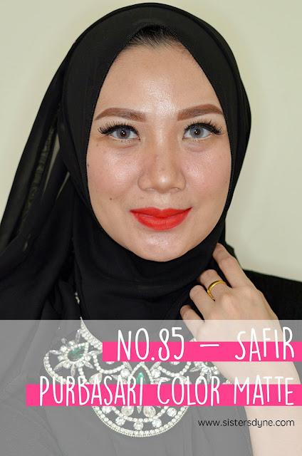 purbasari lipstick color matte 85 safir