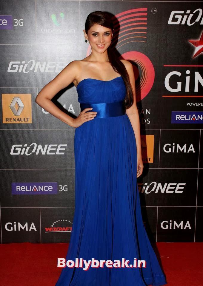 Aditi Rao Hydari, 4th Gionee Star GiMA Awards Photos, Aditi Rao Hydari Red carpet Pics from Different Awards Functions