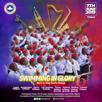 JUNE 2019 HOLY GHOST SERVICE - SWIMMING IN GLORY 6 - BORN TO SING GOD'S PRAISE