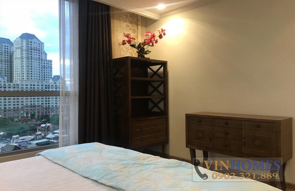 Căn hộ cho thuê quận Bình Thạnh Vinhomes - phòng ngủ view dự án The Manor