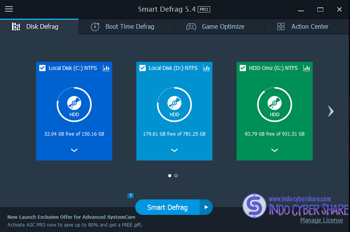 IObit Smart Defrag Terbaru Full Version
