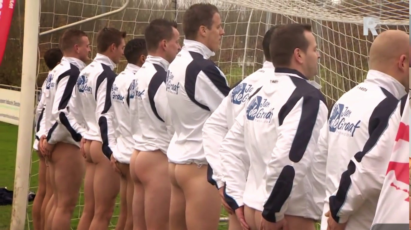 naked footballers asses
