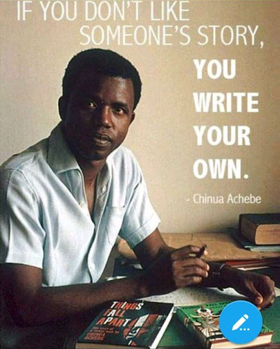 Throwback picture of youthful Chinua Achebe + strong inspirational words