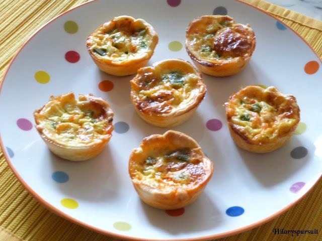 Cup-quiches au chorizo et poivrons verts