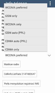 Jenis Jaringan WCDMA GSM CDMA