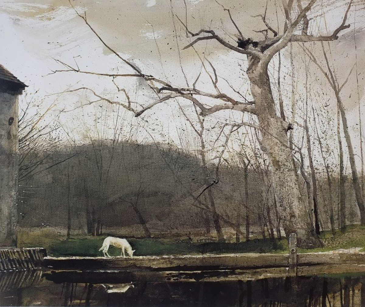 Andrew Wyeth painting with dog on Notes from the Pack