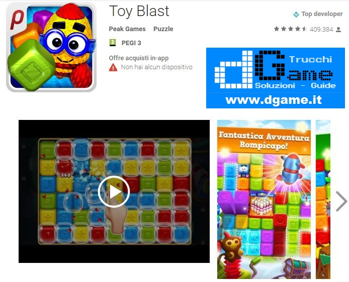 Soluzioni Toy Blast di tutti i livelli | Walkthrough guide