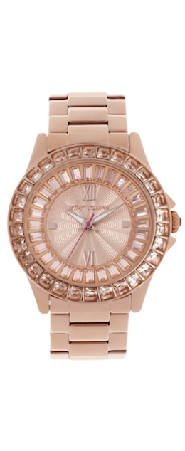 Betsey Johnson Rose Gold-Tone Stainless Steel Bracelet Watch