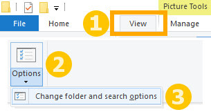 Cara membuka Folder Options