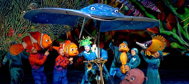 Finding Nemo - The Musical no Animal Kingdom em Orlando