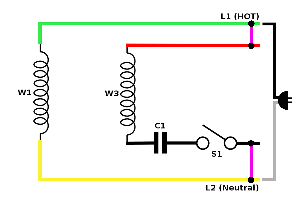 diagram single phase motor with capacitor wiring diagram
