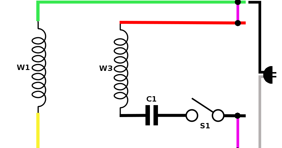 Hyderabad Institute of Electrical Engineers: wiring diagram of a single phase motor with capacitor