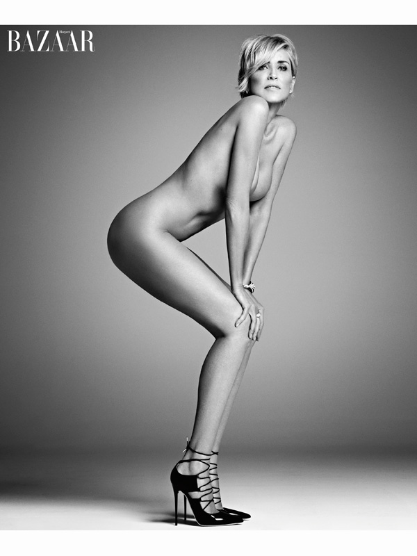 Sharon Stone bares all in Harper's Bazaar September 2015 photoshoot