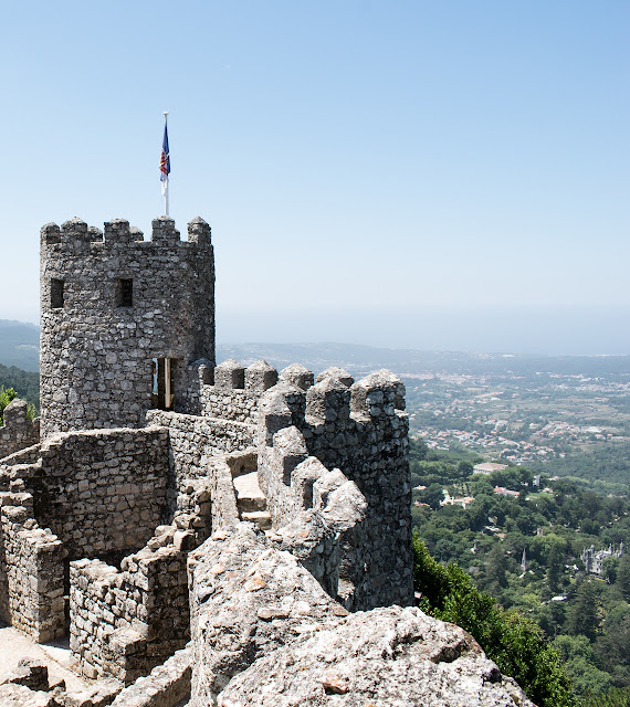 Castillos-de-Portugal, murallas del castillo de los moros