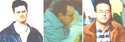 Los ajedrecistas Fèlix Romero, Sergi Picatoste y Joaquim Sosa