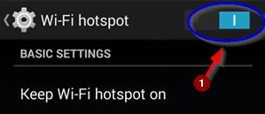 Wifi Hotspot ON Kare