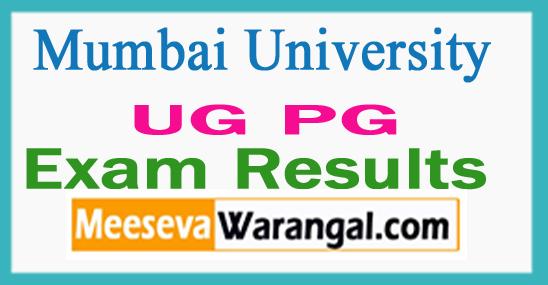 Mumbai University B.Com B.Sc. M.Sc. Results 2017