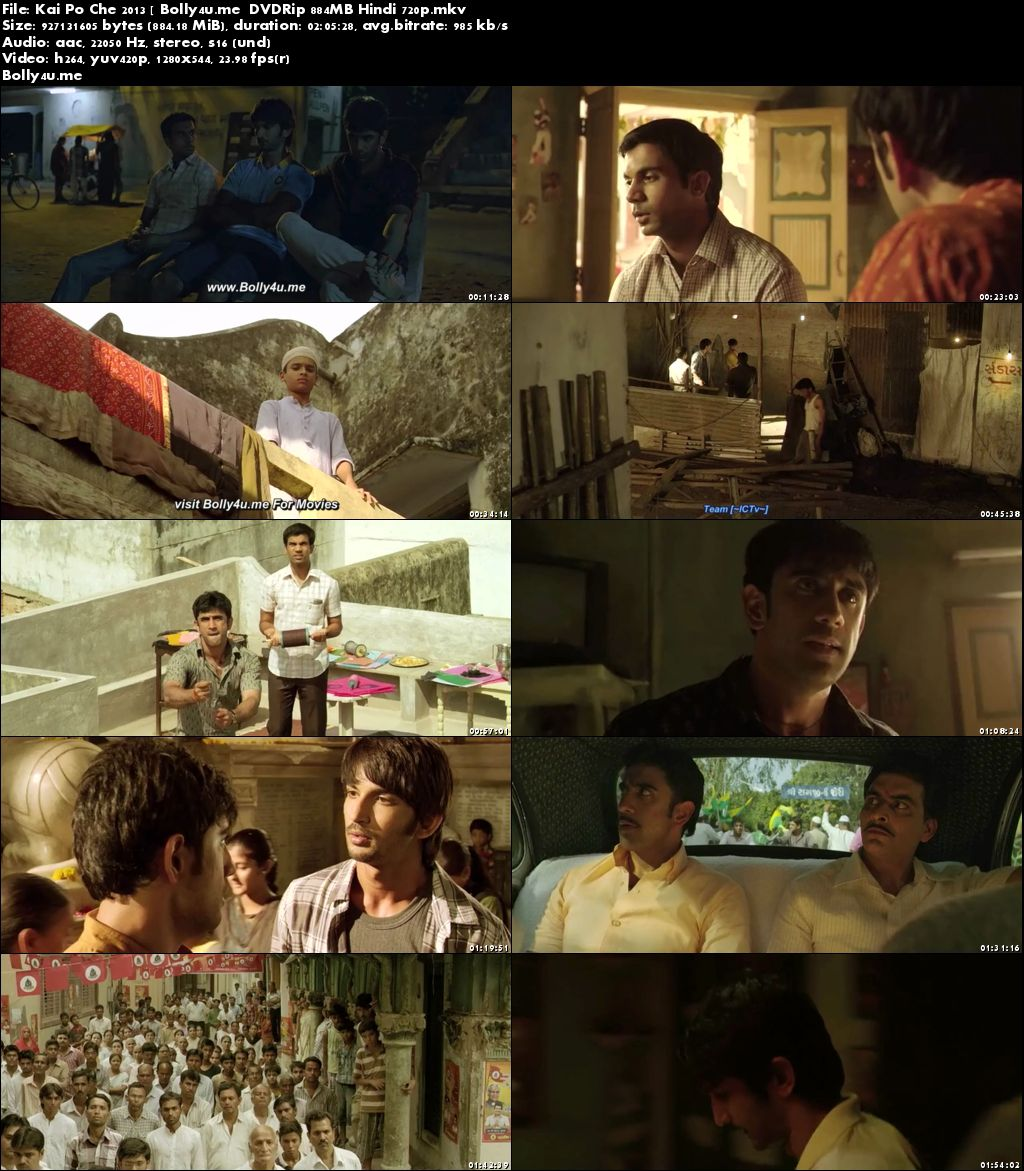 Kai Po Che 2013 BluRay 350MB Full Hindi Movie Download 480p