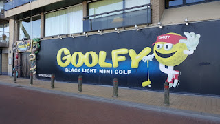 The Goolfy black light indoor Minigolf course in Blankenberge, Belgium