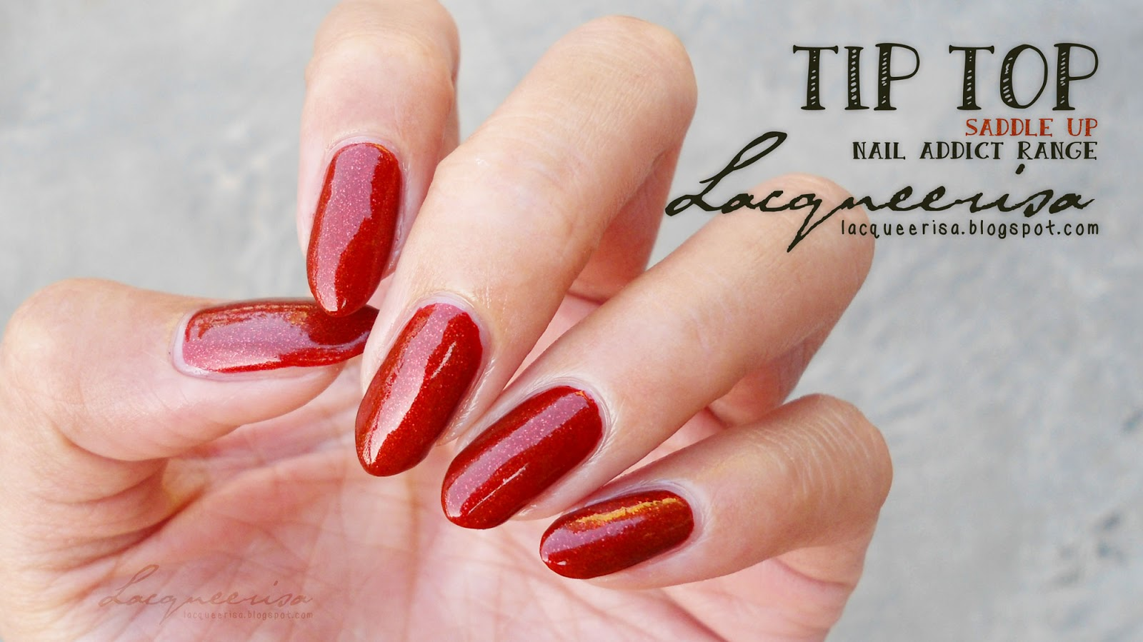 Lacqueerisa: Tip Top Nail Addict, Saddle Up