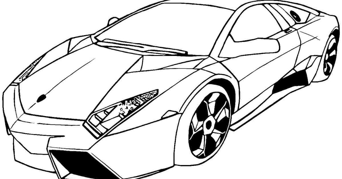 Gambar Mobil Balap Untuk Diwarnai Picture Idokeren