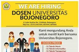 Rekrutmen Dosen Universitas Bojonegoro Maret 2018