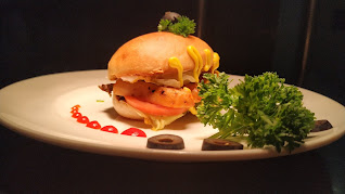 Garnished hot dog with olive for hot dog sandwich recipe