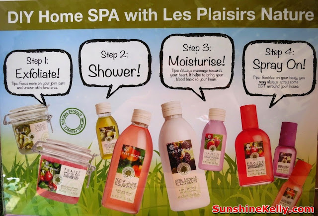 DIY Home Spa with Les Plasirs Nature, body care, yves rocher, home spa