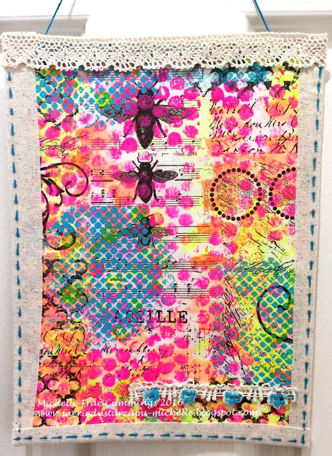 Line Art Quilt Kit : Faerie dust dreams art quilt fabric elements hop