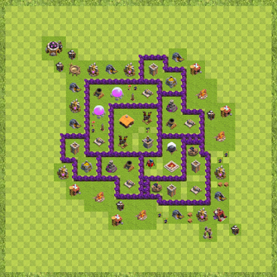 War Base Town Hall Level 7 By Sheldon Kelvin (Sheldon Layout)