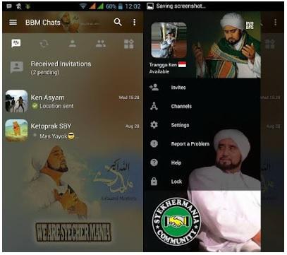 BBM Mod Syekher Mania Based Official V3.0.1.25 Apk